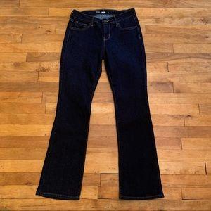 4/$40 - OLD NAVY Boot-Cut Dark Blue Jeans - 4Short